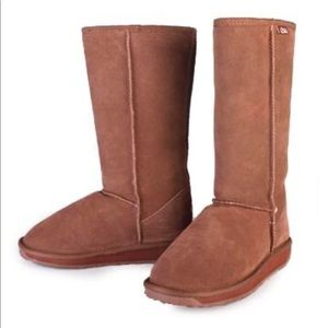 Emu Bronte Hi suede boots pinkish tan size 10
